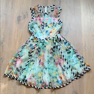 ASOS Floral A-Lini Mini Dress Size 4
